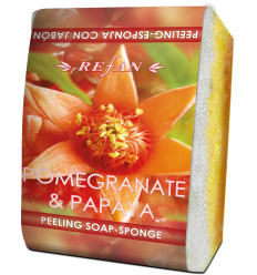 "Muilas - kempinė pilingui ""Pomegranate and Papaya"" (5258)"
